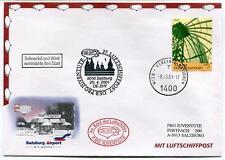 2001 Luftschiffpost n. 27 Pro Juventute Dirigibile OE-ZHY Salzburg Airport ONU