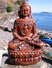 "DETAILED 5+"" HAND-CRAFTED FAIR TRADE CERAMIC TIBETAN BUDDHIST BUDDHA STATUE"