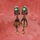 Boucle d`Oreille Femme en Clip Vintage Ancien Style Super Joli Cadeau J3