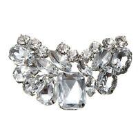 1Piece Elegant Bridal Wedding Shoes Clips Shoe Accessory Rhinestone Charm Decor_