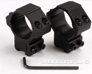 Mittlere Montage 30mm Zielfernrohr Ringe für 11 - 14mm Prismenschiene Jagd