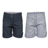 Trespass Ronya Girls Kids Summer Cotton Shorts in Navy & Grey