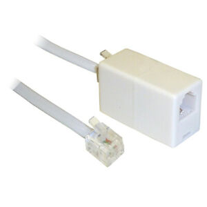 RJ11 Extension Cable with Coupler for Broadband Internet ADSL - SENT TODAY