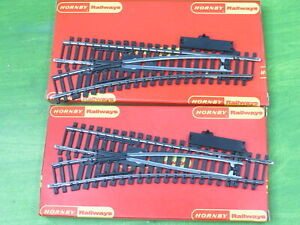 HORNBY - 2 x R612 Left hand system 6 Standard points track - OO Gauge boxed