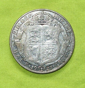 1927 Silver HALF CROWN Coins George V (Combine Postage)