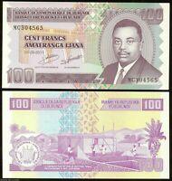 BURUNDI 100 FRANCS 2011 P-44b UNC