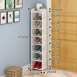 4/5/6/7/8 Tier Corner Shoe Rack Storage Shelf PVC Single Row Shoe Rack Organiser