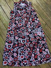 SAG HARBOR WOMAN Paisley Floral SASSY Maxi Sleeveless Dress WOMENS Size 16 16W