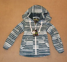 NEW TRESPASS  MAMACITA  LADIES SKI /BOARD JACKET (MEDIUM) DEEP SEA STRIPE