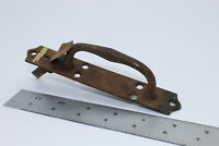 VTG Antique Wrought Iron Hand Forged Gate Latch Handle Door Sliding Barn #2