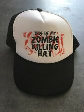 This is My Zombie Killing Hat Funny Trucker Hat Black White Mesh Snapback Nissun