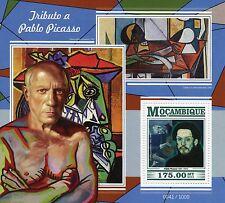 Mozambique 2015 estampillada sin montar o nunca montada Pablo Picasso Tribute 1v S/S Art Pinturas Antiguo Guitarrista