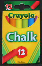 CRAYOLA CHALK Non-Toxic - Assorted Colors - 12 Count - 51-0816 - 1 Box - NEW