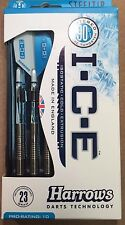 Harrows White I.C.E 23g Steel Tip Darts 90% Tungsten 53102 w/ FREE Shipping
