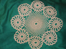 Vintage doily, hand made macrame doily / crochet doily, One-off 1970's