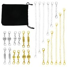 24pcs Magnet Lobster Clasps Extension Chain with Bag for Jewelry Making