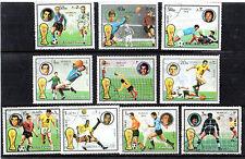 Fujeira 1974 GERMANIA Mondiali di Calcio Serie di tutte le 10 COMMEMORATIVE STAMPS CTO
