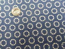 Best Vintage Feedsack Quilt Fabric 40s Novelty Blue Geometric Flour Full Sack