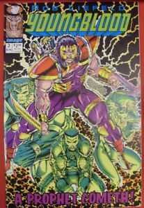 YOUNGBLOOD 2 IMAGE COMIC GREEN 1ST APPEARANCE PROPHET W/CARD LIEFELD 1992 VF/NM