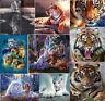 UK Tiger Cat DIY 5D Diamond Painting Animal Embroidery Cross Stitch Craft Decor