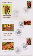Polynésie Enveloppe 1er Jour Journée des Mille fleurs 1971 SUPERBE