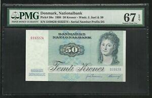 Denmark : 50 Kroner 1998 ; PMG : Superb Gem UNC 67 ; EPQ