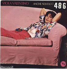 """VIOLA VALENTINO - Anche noi facciamo pace VINYL 7"""" 45 LP 1980 VG+/VG- CONDITION"""