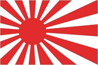 Japanese Old Rising Sun Flag Car Exterior Vinyl Sticker Decals x 4