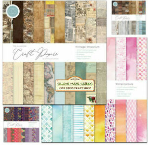 Craft Papers 12 x 12 Paper Pads Vintage Emporium * Watercolours * Wood * Eastern