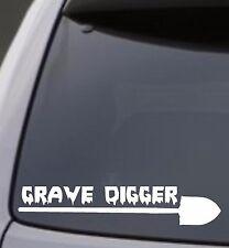 GRAVE DIGGER SHOVEL Vinyl Decal Sticker Car Window Wall Bumper Funny Creepy