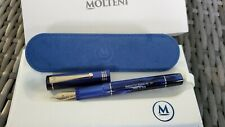 MOLTENI PEN MODELO 88 MIDNIGHT BLUE LIMITED EDITION FOUNTAIN PEN 18K NIB