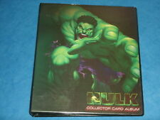 Marvels HULK Official Trading Card Storage Binder 'Collector Card Album'