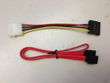 ***New*** Serial ATA SATA Power Adapter Cable & Serial Sata Data Cable