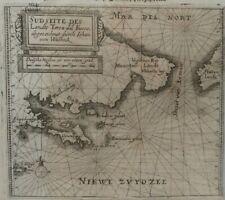 Map de Bry Theodore. sland of states,Tierra del fuego, Patagonia, Magallanes