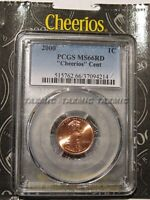 2000 P Cheerios Lincoln Cent 1c PCGS MS66RD with US Mint Packaging