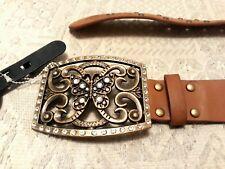NEW butterfly Brown waist belt small