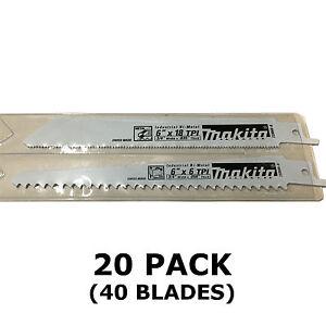 MAKITA RECIPROCATING SAW BLADES - 20 PACKS OF 2 - METAL & WOOD CUT 150mm BJR182