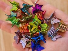 48 iridescent Mini Plastic Butterfly Hair Clips Hair Accessories