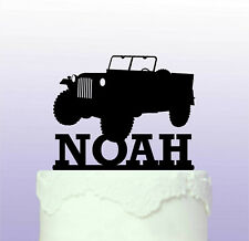 Personalised Jeep WW2 Acrylic Cake Topper