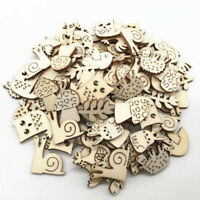50x Zoo Animals Wooden MDF Cardmaking Hanging Ornaments Embellishment Craft DIY