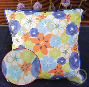 PL99a Color Flower Canvas Water Proof Outdoor Cushion Cover/Pillow Case Size