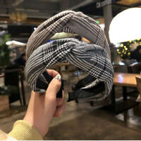 Women's Knot Cross Headband Twist Hairband Knot Tie Hair Band Hoop Accessories