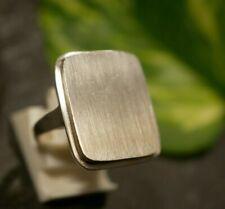 Starker 800 Silber Ring Siegelring Ohne Gravur Jugendstil Art Deco Groß Antik