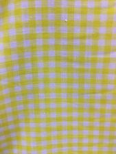 """YELLOW WHITE 1/4"""" CHECKERED PLAID GINGHAM COTTON FABRIC (44 in.) Sold BTY"""