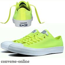 Men's CONVERSE All Star CHUCK 11 NEON OX VOLT GREEN Lo Trainers Shoes UK SIZE 12