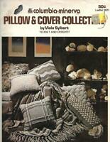 Columbia Minerva PILLOW & COVER Collection Leaflet 2621 1975 to Knit & Crochet