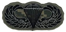 AIRBORNE JUMP WINGS PATCH - ACU/Black - Veteran Owned Business