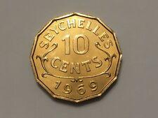 SEYCHELLES 1969 10 cents PROOF coin  KM 10 Oilersfan99