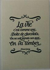 """Impression Image Affiche déco (15x21) Citation Forrest Gump """" La vie c est ... """""""