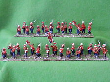 FOUNDRY- 19TH CENT BRITISH INFANTRY  X 33   PAINTED METAL 25MM